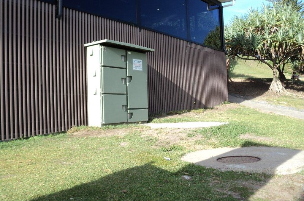 Relocate Unitywater Switchboard at Kings Beach SLSC